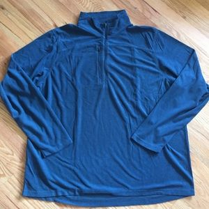 Eddie Bauer 1/4 zip grid fleece